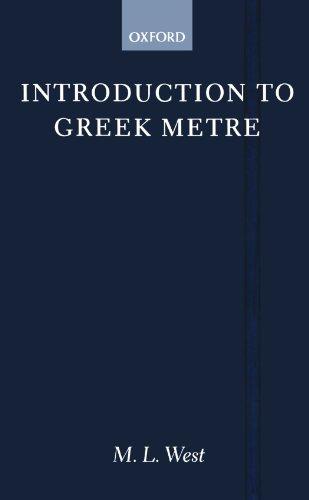 9780198721291: Introduction to Greek Metre (Clarendon Paperbacks)