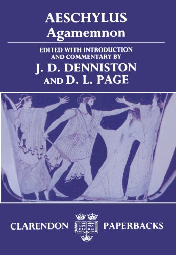 9780198721307: Aeschylus: Agamemnon (Greek text with Introduction and Commentary)