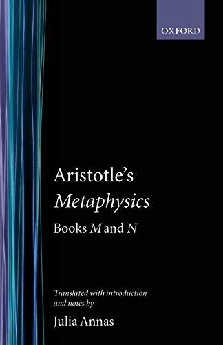 9780198721338: Metaphysics: Books M and N (Clarendon Aristotle Series)