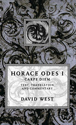 9780198721604: Horace Odes I: Carpe Diem (Bk.1)