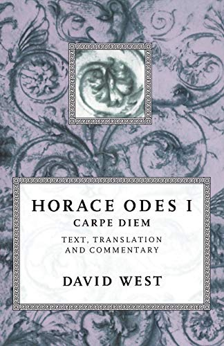 9780198721611: Horace Odes I: Carpe Diem