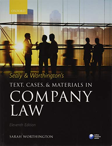 9780198722052: Sealy and Worthington's Text, Cases, and Materials in Company Law