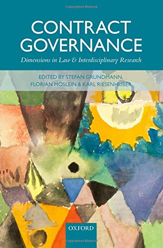 9780198723202: Contract Governance: Dimensions in Law and Interdisciplinary Research
