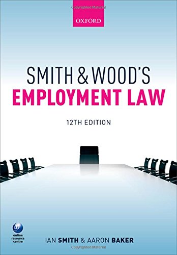 9780198727354: Smith & Wood's Employment Law