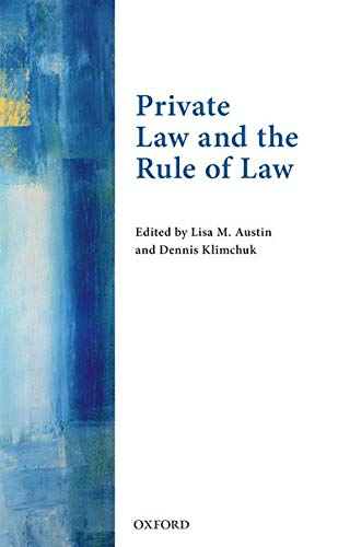 9780198729327: Private Law and the Rule of Law