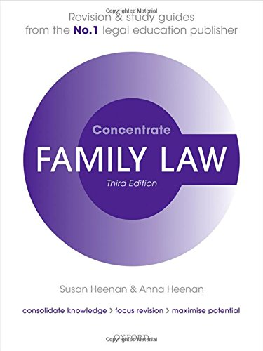 9780198729648: Family Law Concentrate: Law Revision and Study Guide