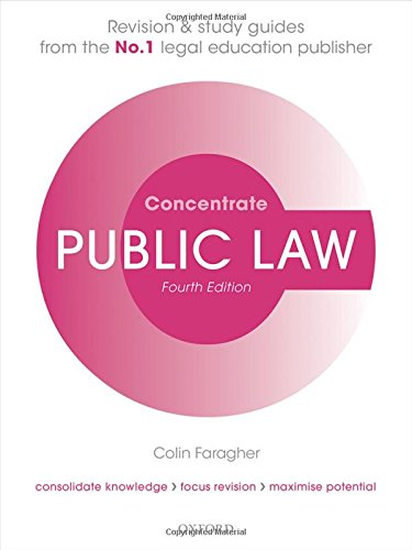 9780198729686: Public Law Concentrate: Law Revision and Study Guide