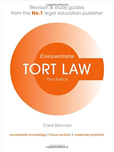 9780198729693: Tort Law Concentrate Law Revision and Study Guide 3/e