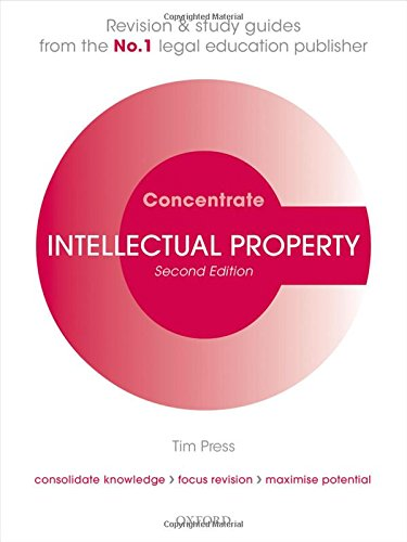 9780198729709: Intellectual Property Law Concentrate: Law Revision and Study Guide