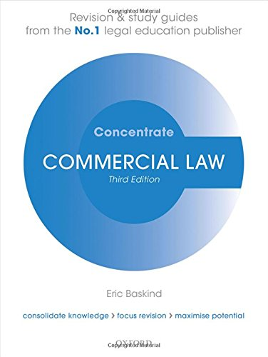 9780198729716: Commercial Law Concentrate: Law Revision and Study Guide