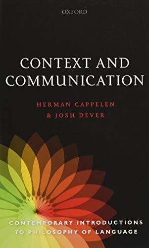 9780198733065: Context and Communication (Contemporary Introductions To Philosophy Of Language)