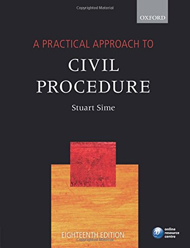 9780198735717: A Practical Approach to Civil Procedure