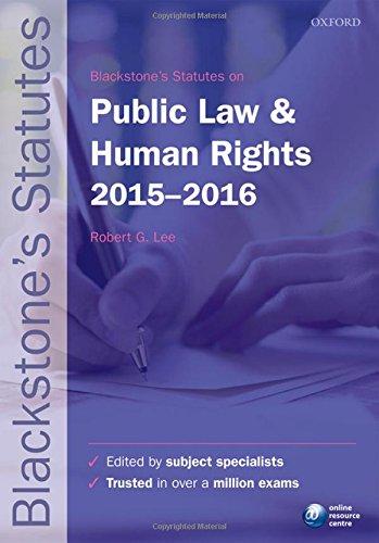 9780198736059: Blackstone's Statutes on Public Law & Human Rights 2015-2016 (Blackstone's Statute Series)