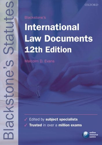 9780198736097: Blackstone's International Law Documents (Blackstone's Statute Series)