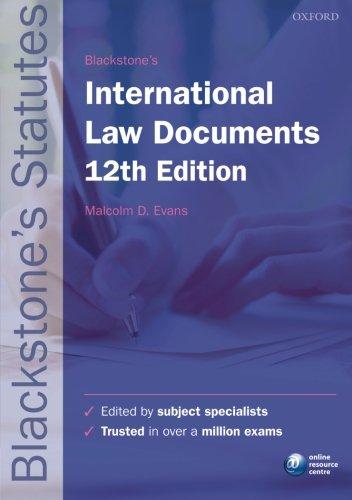 9780198736097: Blackstone's International Law Documents