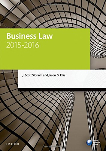 9780198737667: Business Law 2015-2016 (Blackstone Legal Practice Course Guide)