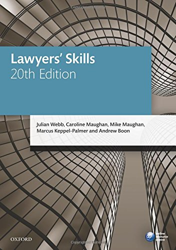9780198737674: Lawyers' Skills (Blackstone Legal Practice Course Guide)