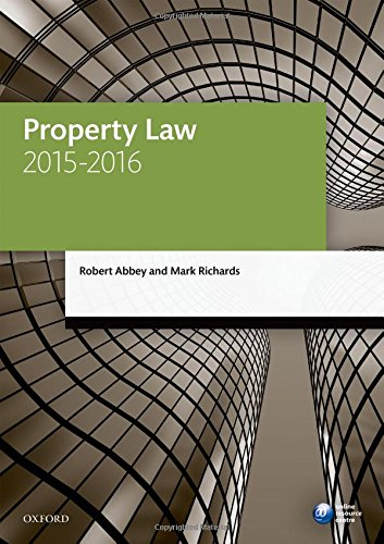9780198737681: Property Law 2015-2016 (Blackstone Legal Practice Course Guide)