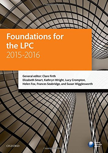 9780198737698: Foundations for the LPC 2015-16 (Blackstone Legal Practice Course Guide)