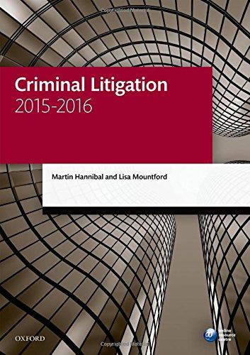 9780198737704: Criminal Litigation 2015-2016 (Blackstone Legal Practice Course Guide)