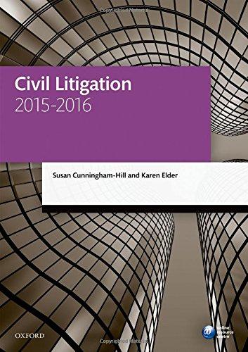 9780198737711: Civil Litigation 2015-2016 (Blackstone Legal Practice Course Guide)