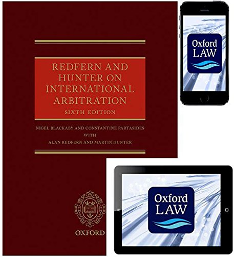 9780198738886: Redfern and Hunter on International Arbitration (Hardcover, eBook, and iOS App)