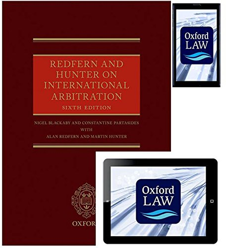 9780198738992: Redfern and Hunter on International Arbitration (Hardback, eBook and Android App)