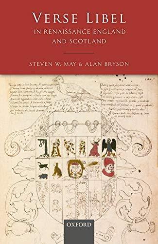 9780198739210: Verse Libel in Renaissance England and Scotland