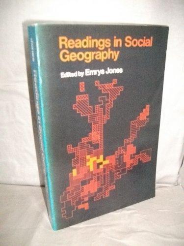 Readings in Social Geography: Jones, Emrys (Ed)