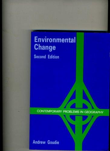 Environmental Change: Goudie, Andrew