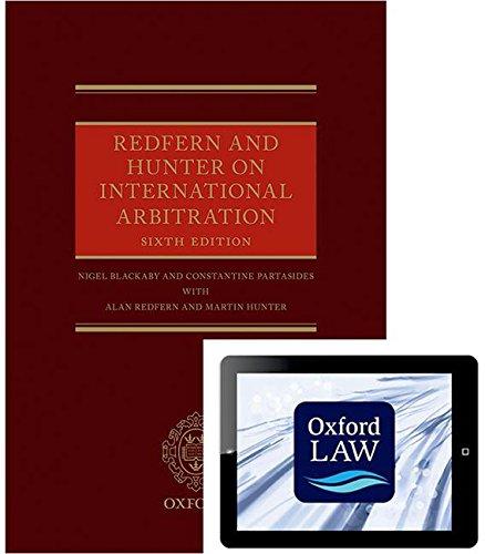 9780198744870: Redfern and Hunter on International Arbitration (Hardback and eBook)