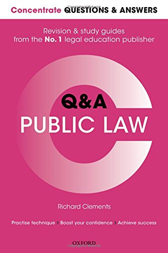 9780198745259: Concentrate Questions and Answers Public Law: Law Q&A Revision and Study Guide (Concentrate Law Questions & Answers)