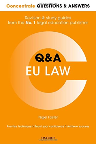 9780198745280: Concentrate Questions and Answers EU Law: Law Q&A Revision and Study Guide (Concentrate Law Questions & Answers)