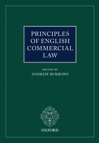 9780198746225: Principles of English Commercial Law