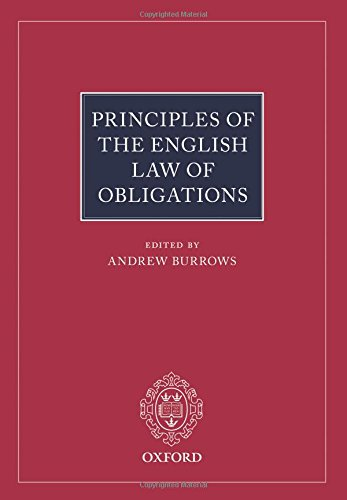 9780198746232: Principles of the English Law of Obligations