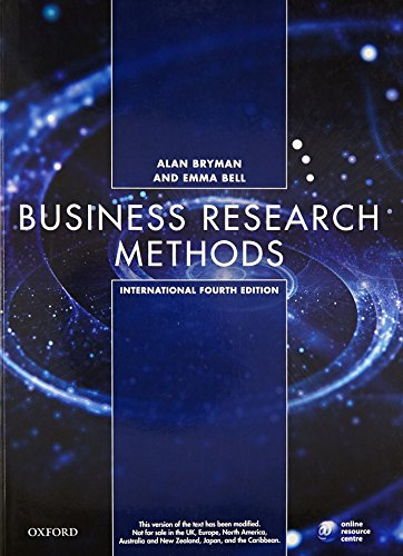 bryman bell business research methods Required reading articles and case studies business research methods: a  managerial approach 3rd ed bryman, a, & bell e (2011) oxford university  press.