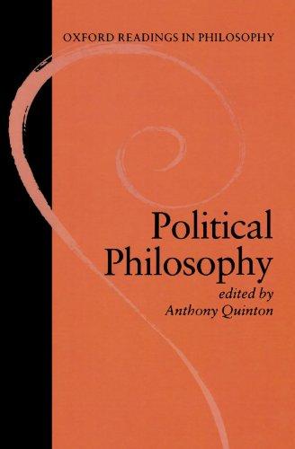 Political philosophy;: Quinton, Anthony