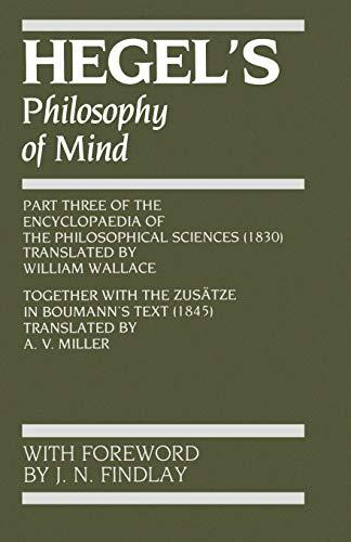 9780198750147: Hegel's Philosophy of Mind (Hegel's Encyclopedia of the Philosophical Sciences)