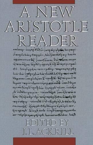 9780198750611: New Aristotle Reader P
