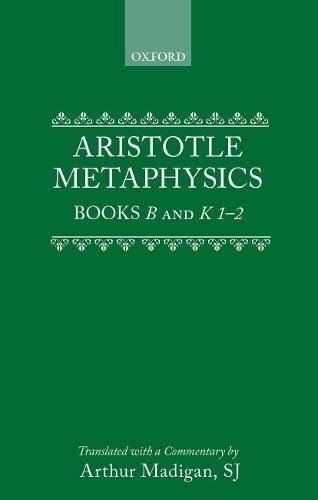 9780198751052: Aristotle: Metaphysics Books B and K 1-2: B&K 1-2
