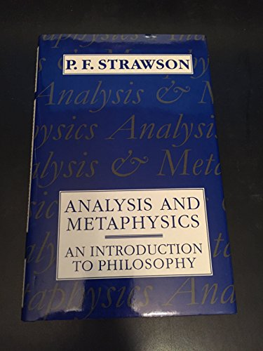 9780198751175: Analysis And Metaphysics: An Introduction to Philosophy