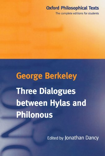 9780198751496: Three Dialogues Between Hylas and Philonous (Oxford Philosophical Texts)