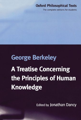 9780198751618: A Treatise Concerning the Principles of Human Knowledge (Oxford Philosophical Texts)