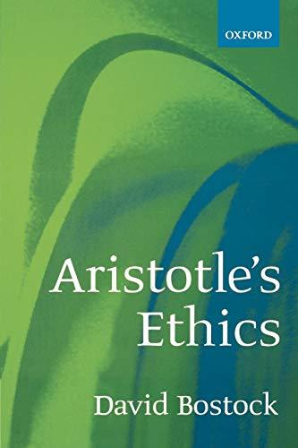 9780198752653: Aristotle's Ethics