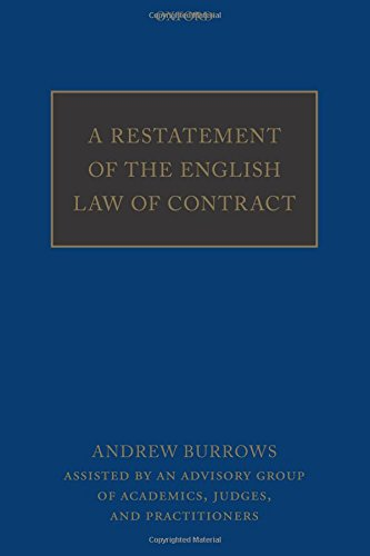 9780198755555: A Restatement of the English Law of Contract