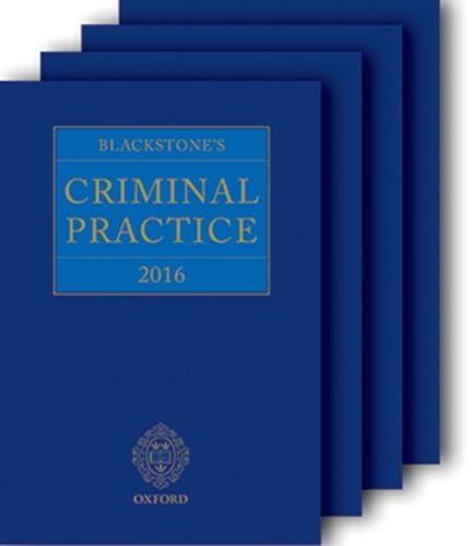 9780198757054: Blackstone's Criminal Practice 2016 (book and supplements)