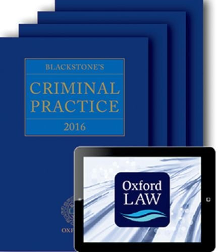 9780198757061: Blackstone's Criminal Practice 2016 (book, all supplements, and digital pack)