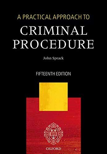 9780198757337: A Practical Approach to Criminal Procedure
