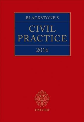 BLACKSTONES CIVIL PRACTICE 2016: SIME, STUART