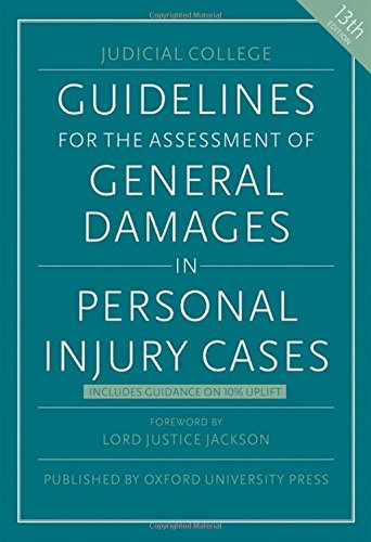 9780198757627: Guidelines for the Assessment of General Damages in Personal Injury Cases